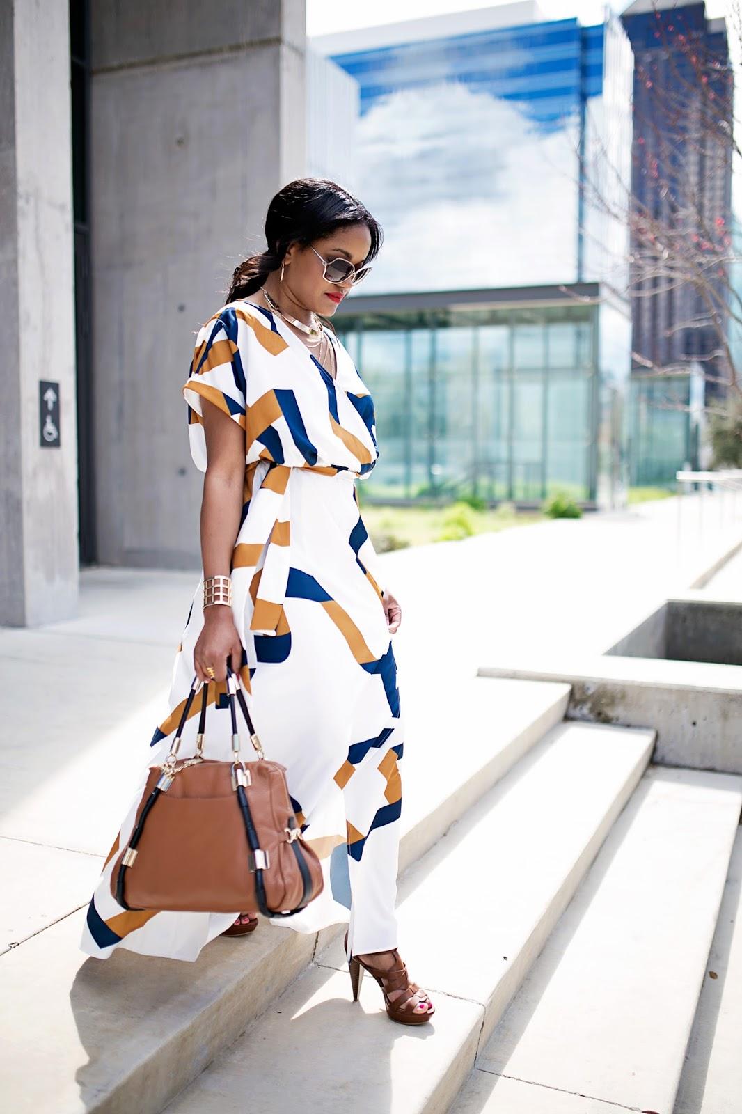 maxi dress-spring fashion- sheIn maxi dress- perfect maxi dress- how to dress up maxi dress- guess caged platform sandals, bauble bar- dallas fashion blogger- black girl fashion blogger- look for less- diane von furstenburg look for less-