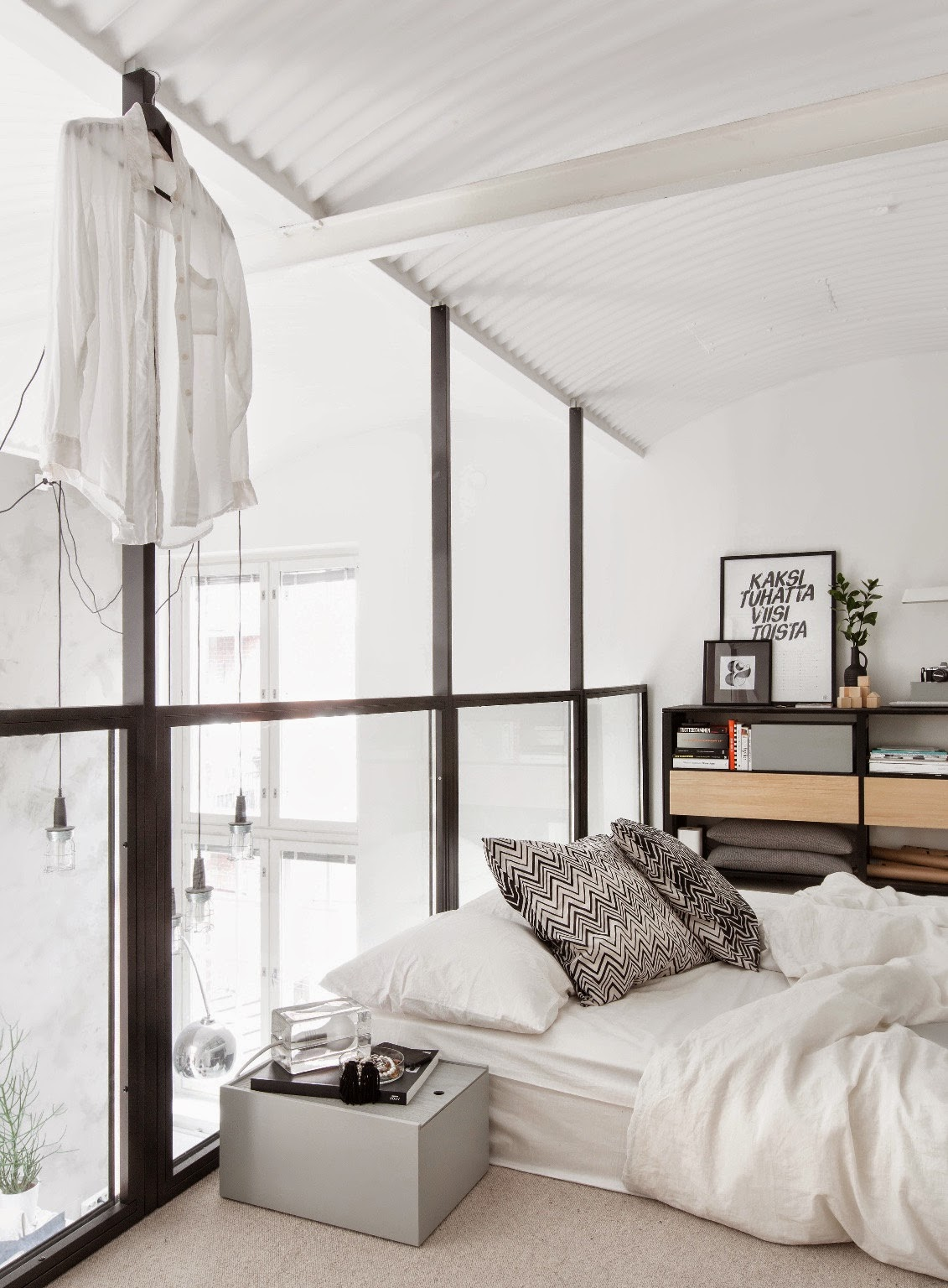Black And White Loft In Finland