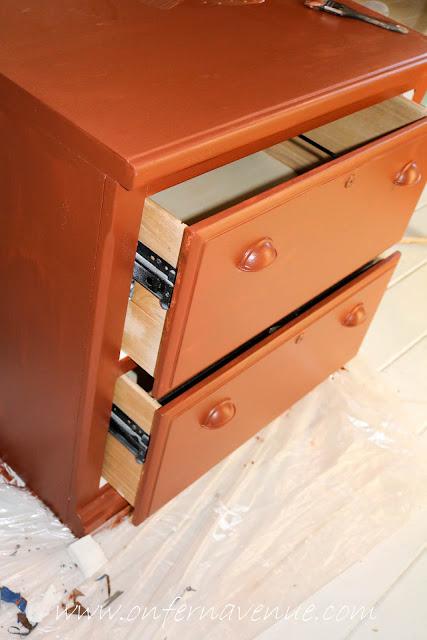 Filing Cabinet Modern Masters Red Primer