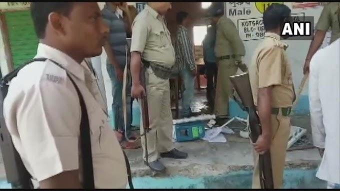 बंगाल में तृणमूल और भाजपा कार्यकर्ता की गुंडागर्दी, उत्पात मचाने के बाद तोड़ दी गई EVM मशीन