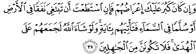 Surat Al-An'am Ayat 35
