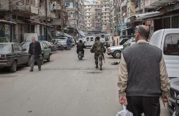 Cidade no Líbano é um microcosmo da guerra civil na Síria