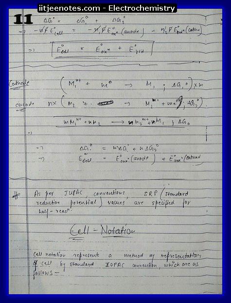Electrochemistry 11