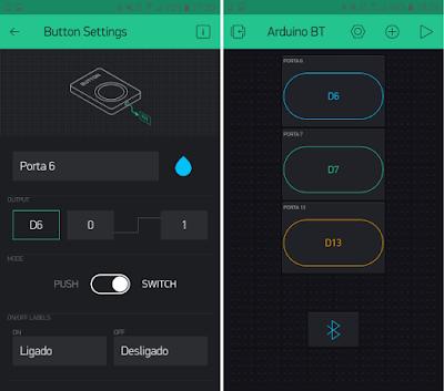 Blynk - Configuração botões