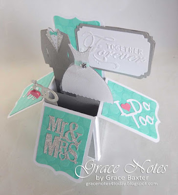 Together Forever wedding box card. Designed by Grace Baxter