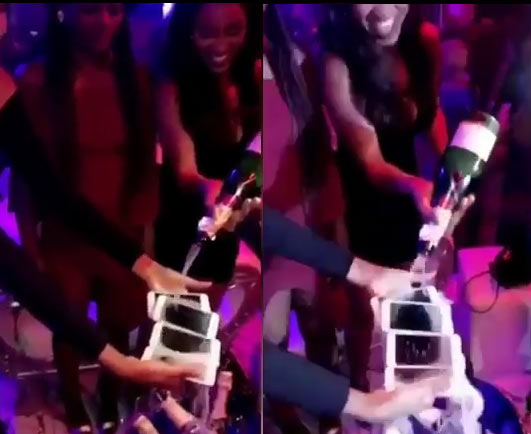 What recession? These ladies emptied 500k champagne on their iPhone 7