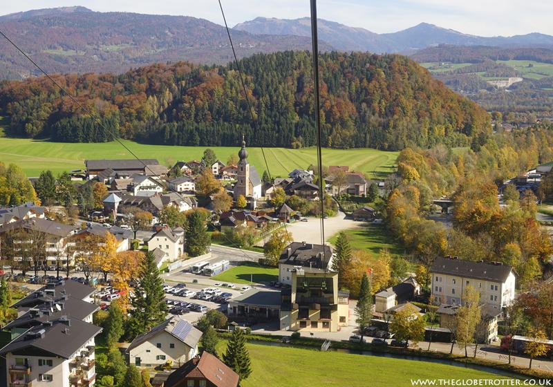 Beautiful panoramic views from the Untersberg mountain in Salzburg