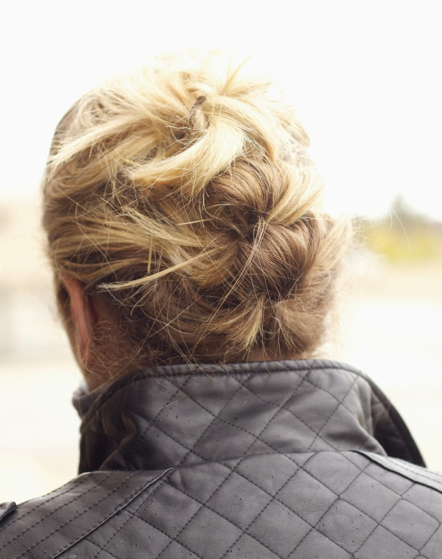 Easy updo for in between length hair