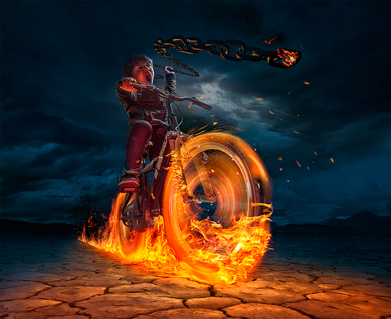 01-Ghost-Rider-Adrian-Sommeling-Surreal-Photo-Manipulation-with-a-Son-s-Help-www-designstack-co