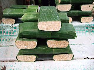 membuat bungkus tempe daun pisang