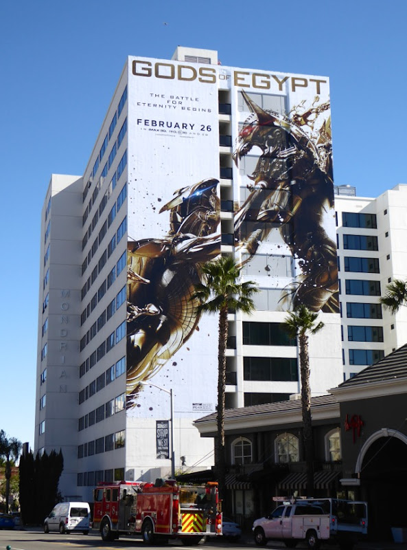 Giant Gods of Egypt movie billboard Sunset Strip