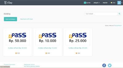 Pilihan hadiah pada survey online i-Say Indonesia | SurveiDibayar.com