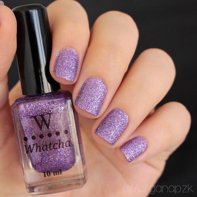 "Esmalte Texturizado Roxo ""Lavender"" da Whatcha"