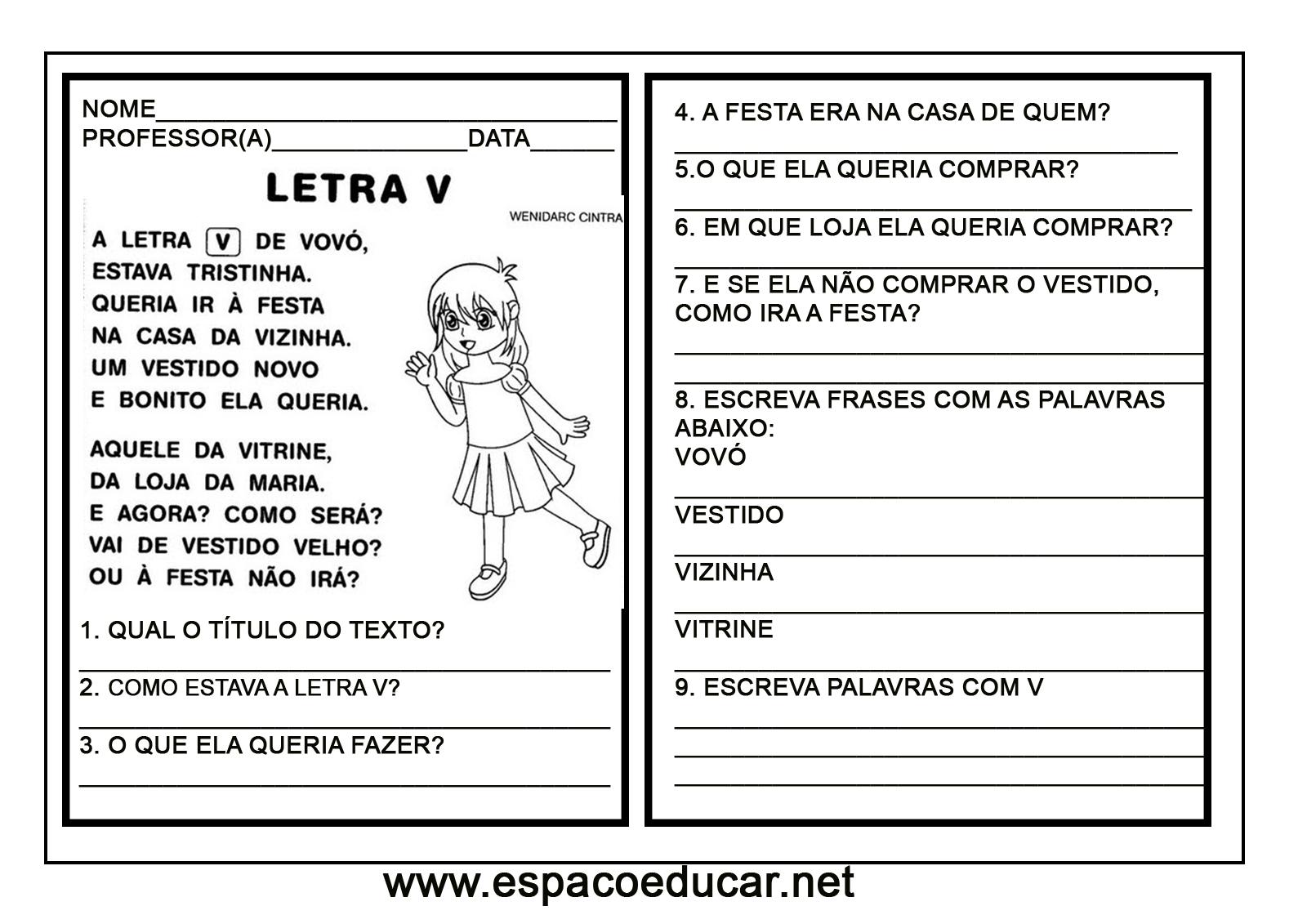Caderno De Pequenos Textos Com Interpretação Para Alfabetização Ou