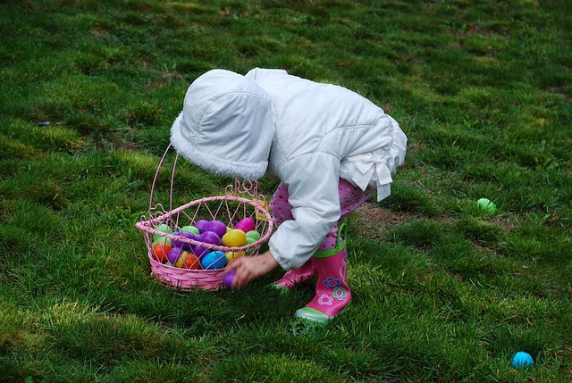 camping and easter eggs