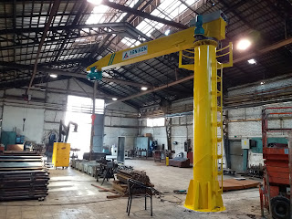 jib crane with ladder