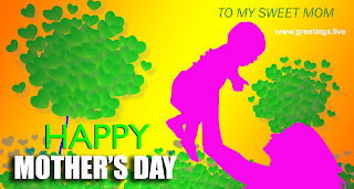 creative Happy mothers day Images wishes a mother holing baby hearts balloon