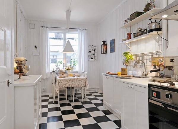 keramik dapur hitam putih