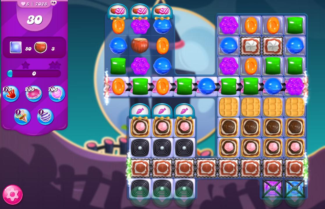 Candy Crush Saga level 7028
