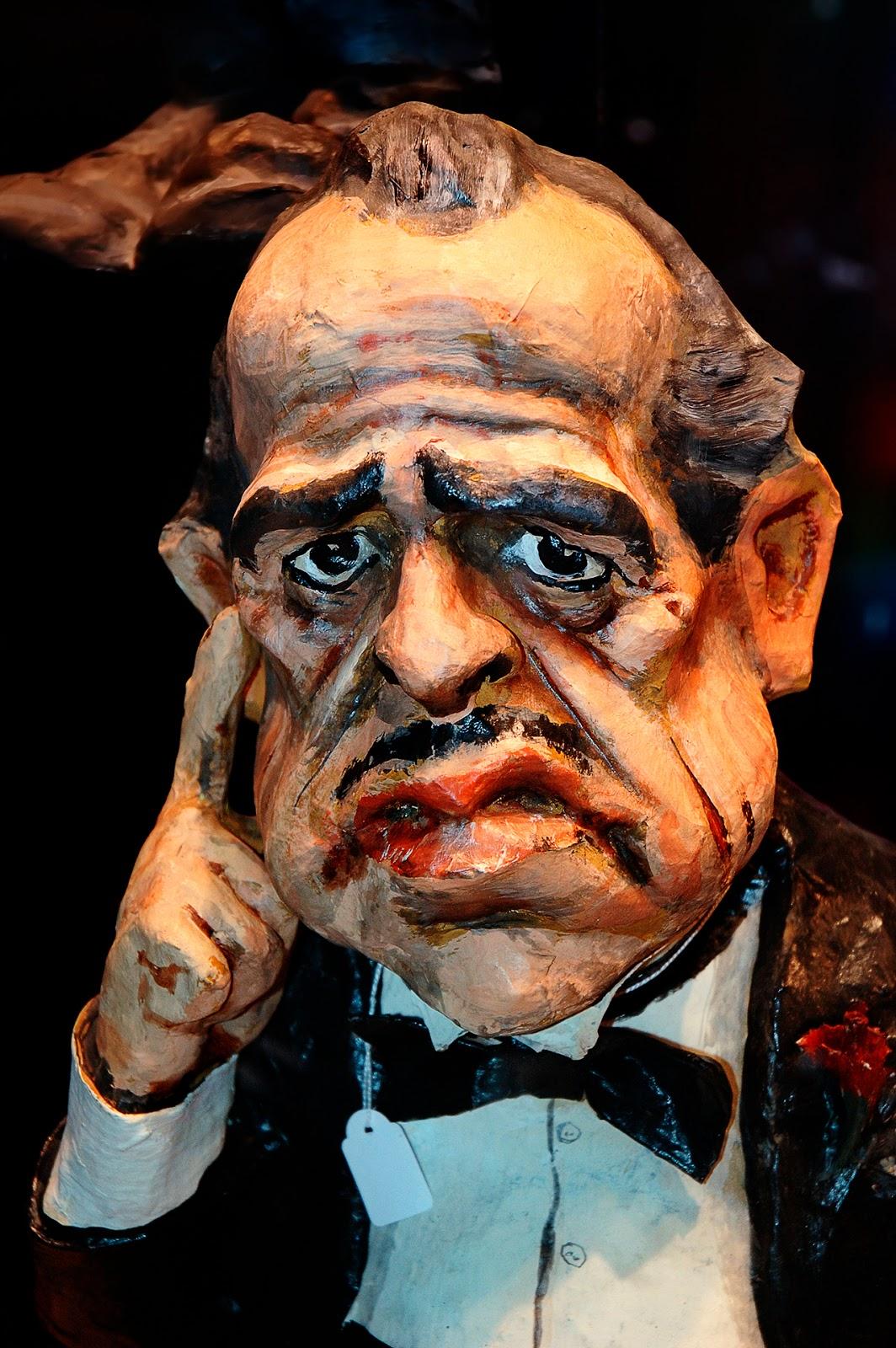 Don Corleone (Marlon Brando) in papier mache, Barcelona