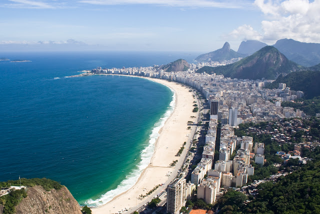 view of copacabana beach, brazil