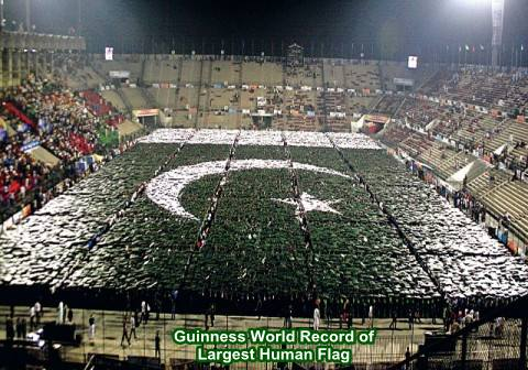 Guinness World Record of Largest Human Flag