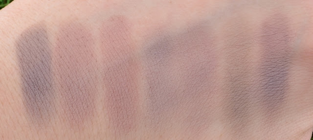 taupe farbene Lidschatten Swatches