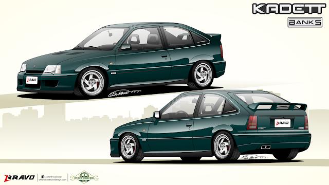 """Imagem mostrando o desenho do projeto do Chevrolet Kadett """"Banks"""""""
