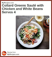 Collard Greens Saute with Chicken and White Beans