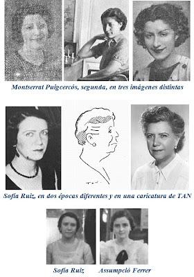 Montserrat Puigcercós, Sofía Ruiz y Assumpció Ferrer