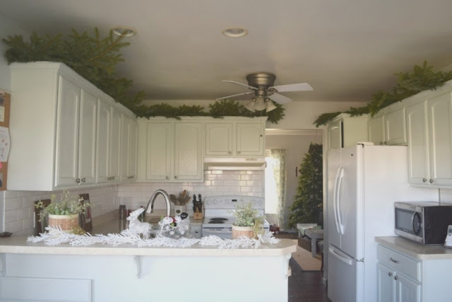 Greenery Above Kitchen Cabinets Gallery