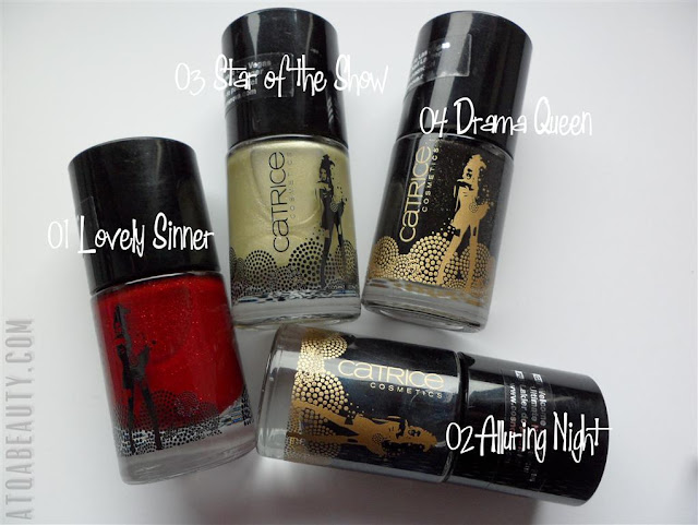 Catrice, Welcome to Las Vegas, Ultimate Nail Laquer, 01 Lovely Sinner, 02 Alluring Night, 03 Star Of The Show, 04 Drama Queen