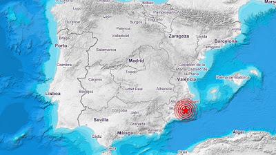 Terremoto sacude Alicante y Murcia