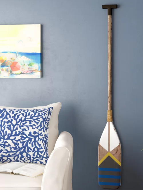 Painted Oar Wall Decor