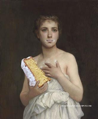 Fotomontaggi satirici di dipinti famosi-Pandora - W. A. Bouguereau