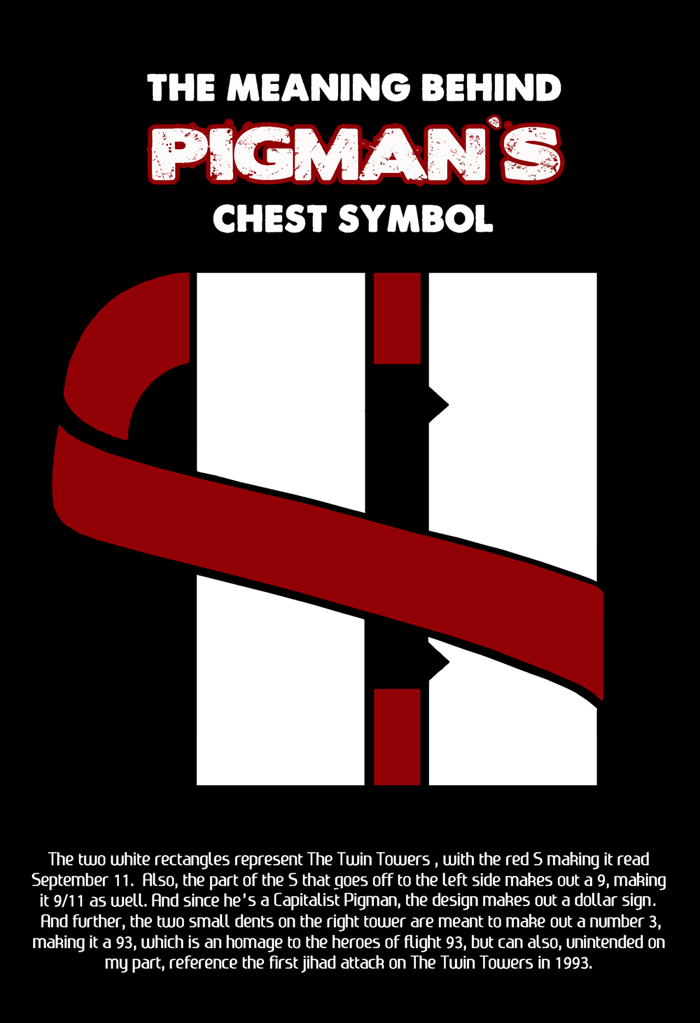 Bosch Fawstin: The Meaning Behind Pigman's Chest Symbol