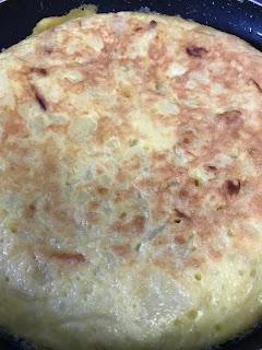 La tortilla española lista para servir