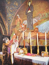 Latin Rite Altar on Mount Calvary (Church of the Holy Sepulchre, Jerusalem)