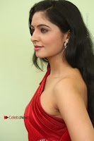 Actress Zahida Sam Latest Stills in Red Long Dress at Badragiri Movie Opening .COM 0079.JPG