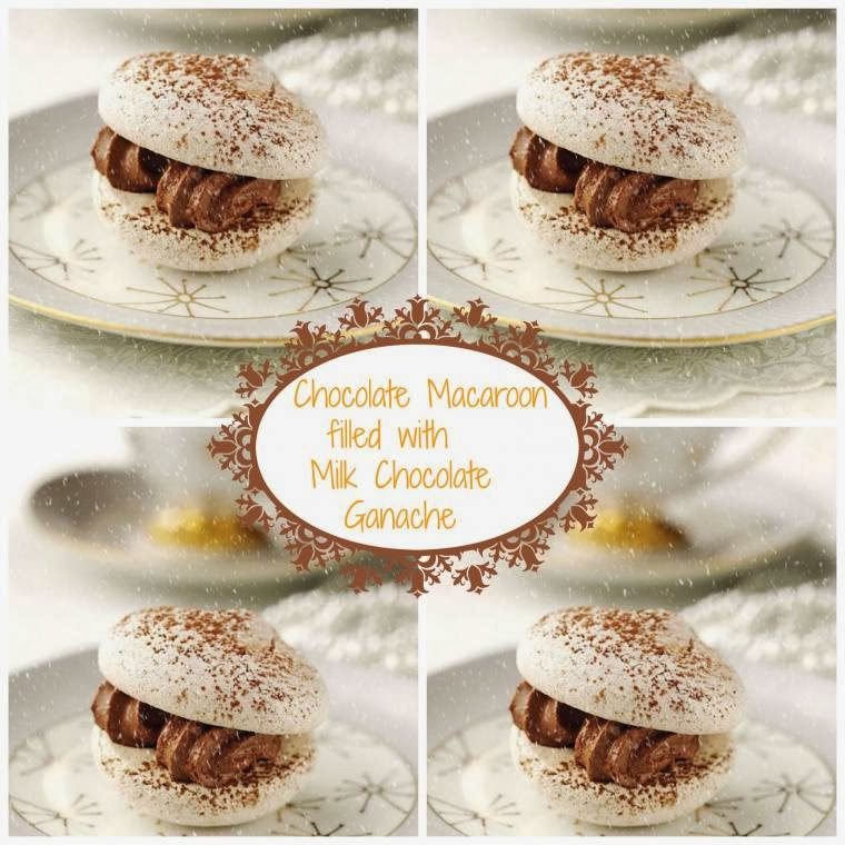 Chocolate Macaroon Filled With Milk Chocolate Ganache.