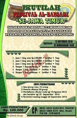 Festival Al Banjari (Dalam Rangka Menyambut 1 Muharrom 1438 H - Pondok Raudlatul Hasaniah II) Se Jawa Timur Tahun 2016