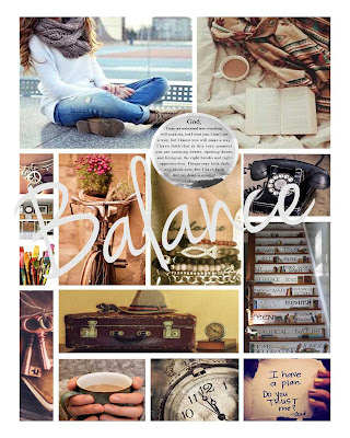 Mood Board for One Little Word by Lynn Shokoples
