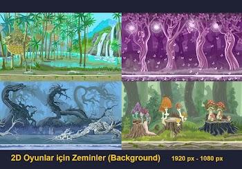 2D Oyun Tasarımları için Zeminler (Background) - 1
