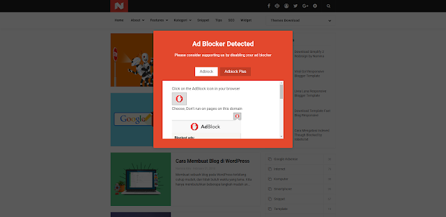 Cara Memasang Adblock Killer Terbaru di Blog