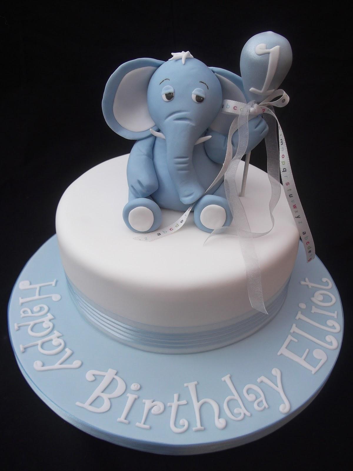 Baby Boy Birthday Cake Elephant Image Inspiration of Cake and