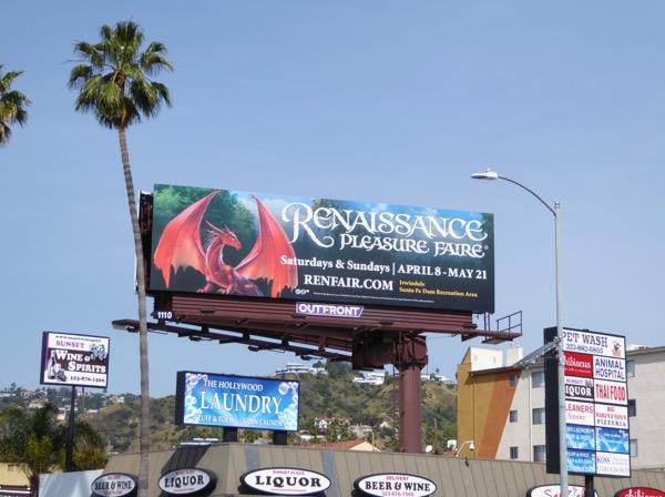 Renaissance Faire 2017 dragon billboard