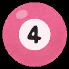 ビリヤードボールのイラスト(4)
