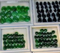 imperial jade cabochons with different colors