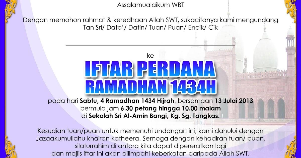 Jemputan Ke Iftar Perdana 1434h Ikram Hulu Langat