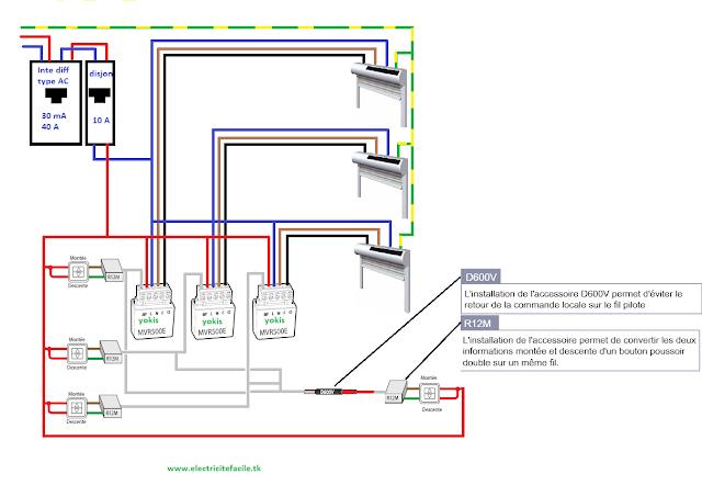 centralisation plusieurs volets et micromodules avec plusieurs boutons schema electrique. Black Bedroom Furniture Sets. Home Design Ideas